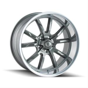 Ridler 650 Series Gloss Gray Wheels With Polished Lip 650 2865g30
