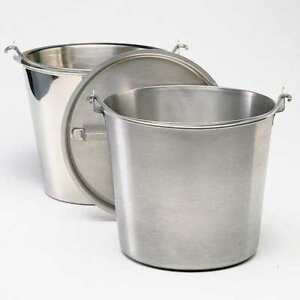 Tapered Pail 12 1 2 Qt stainless Steel Zoro Select 58130
