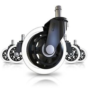 Office Chair Caster Wheels Set Of 5 Heavy Duty Safe For All Floors