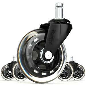 3 Inline Skate style Office Chair Caster Wheel Replacement By Sunniedog
