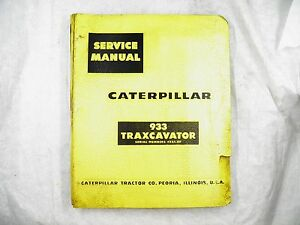 Cat Caterpillar 933 Traxcavator 42a1 up Service Manual