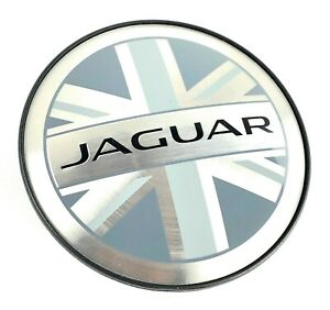 One Jaguar Black Union Jack Wheel Center Cap Xj Xk Xf Xe F Type E Pace Genuine
