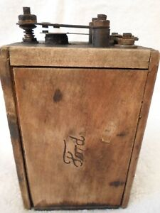 Antique Ford Model T A Ignition Coil Wooden Buzz Box Battery Early 1900 S