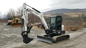 2012 Ihi80 Excavator Enclosed Cab Hydraulic Thumb Nice Ready To Work In Pa