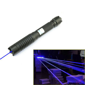 2w Q6b b Military 450nm Blue Laser Pointer Visible Beam Burn Cigarette Lighter