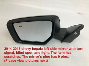2014 2018 Chevy Impala Left Side Mirror With Turn Signal And Blind Spot 84269234