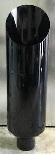 4 In 12 Out 36 L Miter Cut Gloss Black Diesel Exhaust Stack Chevy Duramax