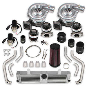 Corvette C6 05 07 Ls2 Holley Sts Twin Turbo System W o Tuner Fuel Injectors