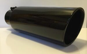 4 Inlet 7 Outlet 18 L Gloss Black Diesel Exhaust Tip Chevy Duramax