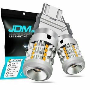Jdm Astar 2x 3157 Amber Yellow Led Turn Signal Lights Built in Anti Hyper Flash