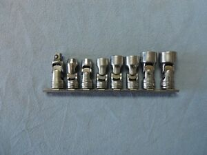 Snap On Tools 3 8 Drive Chrome Universal Wobble Socket Set With Extra U Joint