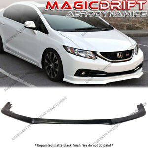 For 13 15 Honda Civic Sedan 4dr As Aero Style Front Bumper Lip Chin Splitter Kit