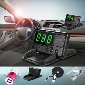 Car Hud Gps Speedometer Head Up Display Speed Km H Warning System Universal Kits