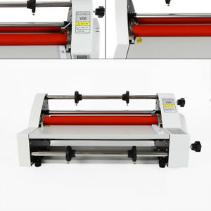 2018 Latest Version V350 13 Four Rollers Hot And Cold Roll Laminating Machine