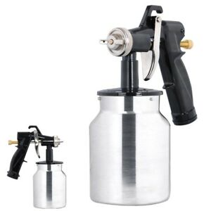 Electric 1000ml Hvlp Air Spray Gun Kit 450w Sprayer 1 0mm Nozzle Painting Tool