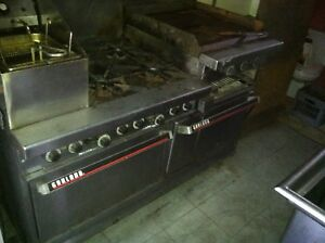 Garland Commercial Gas Stove 6 burner With Double Oven Broiler