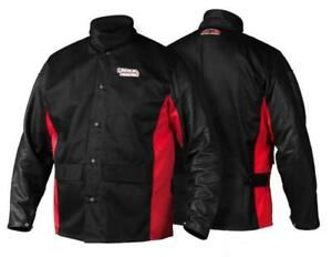 Lincoln Electric 3x large K2987 Shadow Grain Leather Sleeve Welding Jacket