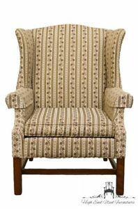 Ethan Allen Upholstered Wingback Accent Arm Chair