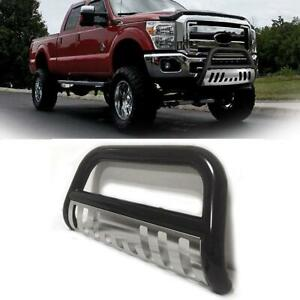 3 Push Bumper Bull Bar Grille Guard Ss Black Silver For 05 15 Toyota Tacoma