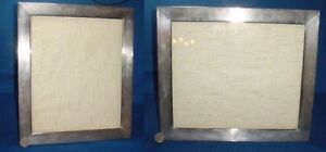 Huge Sterling 925 Hallmarks Two Position Picture Photo Frame Crystal Glass 14