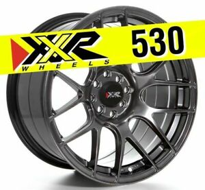 Xxr 530 17x9 75 5x100 5x114 3 25 Chromium Black Wheels Set Of 4