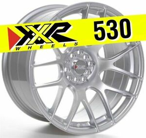 Xxr 530 18x9 75 5x100 5x114 3 20 Hyper Silver Wheels Set Of 4