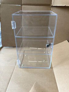 Clear Acrylic Display Case Counter Top Key Lock 10x10x16 California Pickup Only