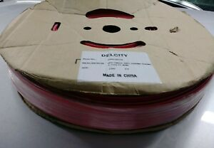 250 Foot Spool Of Red Single Wall Heat Shrink Tubing 1 Inch Initial Diameter