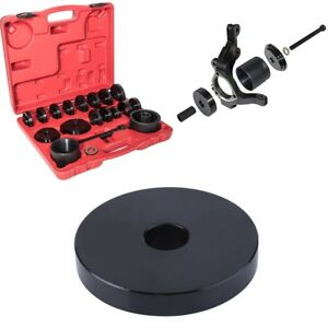 23pc Fwd Front Wheel Drive Bearing Removal Adapter Puller Pulley Tool Kit W case