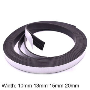 Self Adhesive Magnetic Tape Sticky Backed Magnet Craft Strip 10 13 15 20mm Width