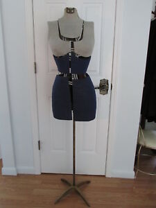 Vintage Fairloom Fully Adjustable Dress Form Mannequin Iron Stand Size A