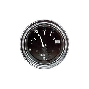 Stewart Warner Deluxe Series Electrical Oil Pressure Gauge 2 1 16 Dia 82305