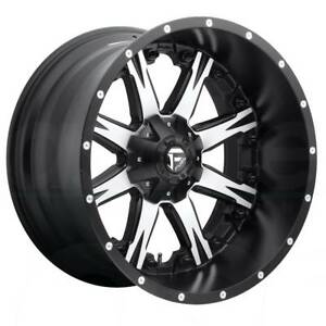 One 20x10 Fuel Nutz D541 5x5 5 5x150 12 Black Machined Wheels Rims