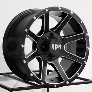 One 18x9 Rdr Rd08 Rd8 6x5 5 6x139 7 12 Black Milled Wheels Rims