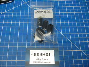 Sc Gha Series Axial Electrolytic Capacitors 50v 1000uf 5 Pieces