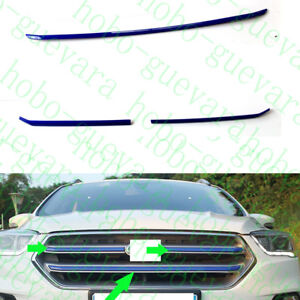 3xauto Blue Abs Front Upper Grille Decorative Trims For Ford Escape Kuga 17 18