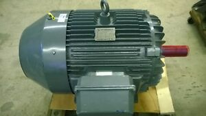 North American Electric 100 Hp Ac Induction Motor Cat H18100 factory Rebuild