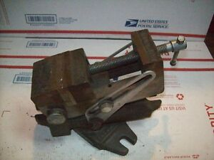 Drill Press Milling Machine Vintage Palmgren Tilt Angle Vise