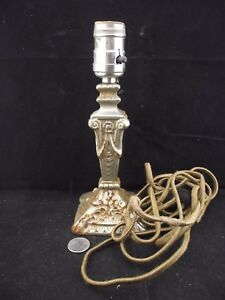 Antique Metal Decorative Heavy Cast Plated Lamp 1930 S Cord