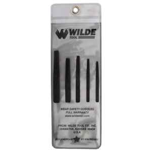 Wilde Tool 5pc Screw Bolt Extractor Set Made In Usa Premium Quality Easy Wcase