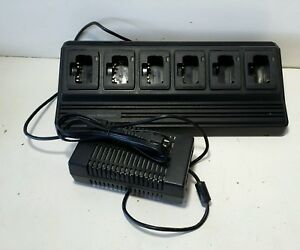 Vertex Standard Cd 18 Power Supply 6 Unit Multi Charger W Ac Adapter