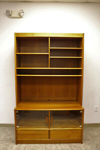 Mid Century Bookcase Wall Unit Cabinet Made In Denmark