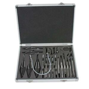 Ophthalmic Cataract Eye Micro Surgery Surgical Instruments Set Kit 21 Pcs Willko