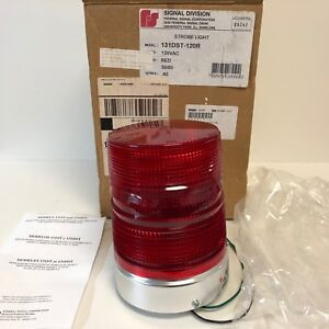 New Old Stock In Box Federal Signal Red Beacon Strobe Light 131dst 120r