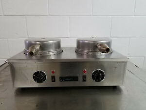 Toasts Well Double Commercial Waffle Maker Table Top Tested 115v No Tag