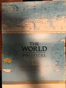 Map Only Rare The World Political National Geographic World July 1995