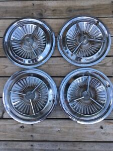 1961 Dodge Polara Hubcaps Spinners Flippers 15 Rat Rod Hot Bullets Set Of 4