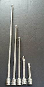 Snap On Tools 5pc 3 8 Dr Wobble Extension Set 18 11 8 4 3