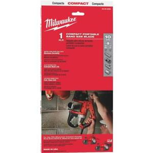Milwaukee 35 3 8 L X 1 2 W 10 Tpi Bi metal Compact Portable Band Saw Blade