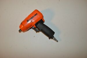 Snap on Tools 3 8 Drive Super Duty Impact Air Wrench Mg325 Orange W Boot Used